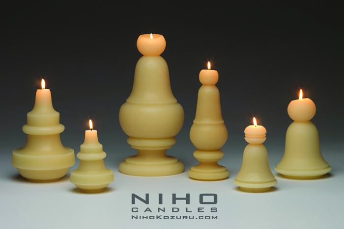 Niho Kozuru candles, 100% beeswax